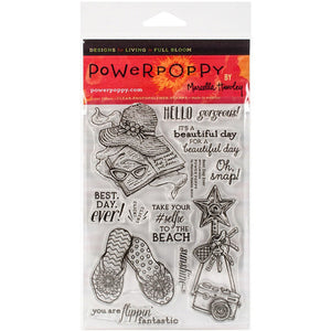 Power Poppy by Marcella - Clear Stamps - Best Day Ever (4 x 6 Inches)