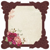 Kaisercraft Lady Rose Collection - 12 x 12 Die Cut Gloss Geraldine