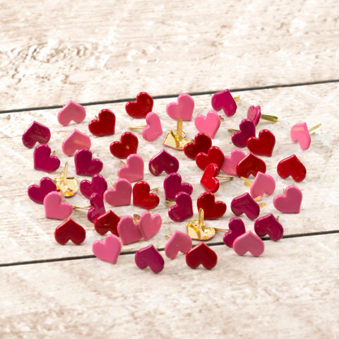 Paper Stud - Cupid Heart Hot colours mix 50 WH