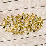 Paper Studs Primitive Heart Gold (100) WH