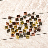 Paper Stud Faceted Square Large Metallic Mix 50pk WH
