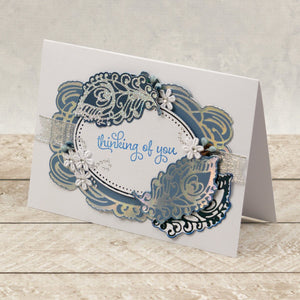 Esthetica Cut, Foil and Emboss Decorative Nesting Die - Peacock Frames | Hobby Craft and Scrap