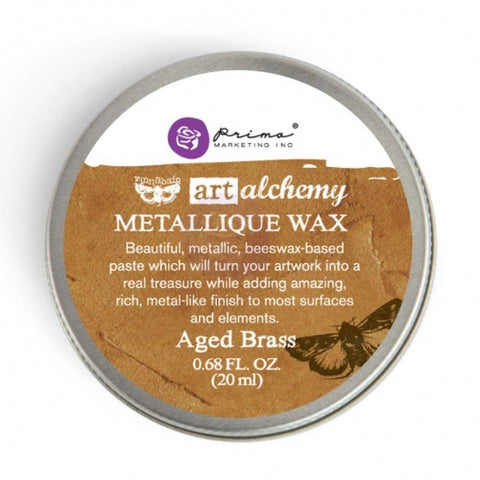 Prima - Art Alchemy Metallique Wax (20ml) - Aged Brass