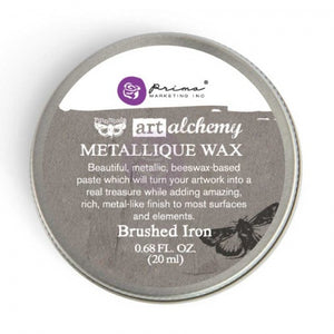Prima - Art Alchemy Metallique Wax (20ml) - Brushed Iron