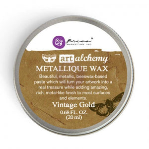 Prima - Art Alchemy Metallique Wax (20ml) - Vintage Gold