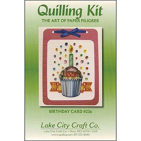 Lake City Craft - Quilling Kit - Birthday Card