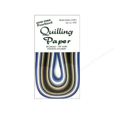 Lake City Craft - Quilling Paper - Pearlized (1/8 inch / 80 pkg)