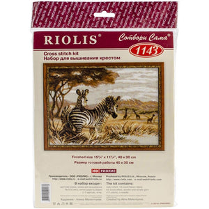 Riolis - Counted Cross Stitch Kit - Zebras In The Savannah