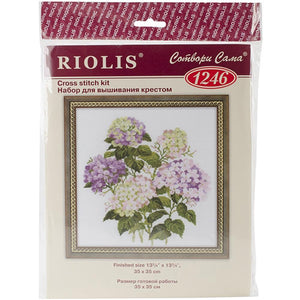 Riolis - Counted Cross Stitch Kit - Garden Hydrangea