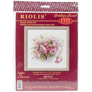 Riolis - Counted Cross Stitch Kit - Watercolor Roses