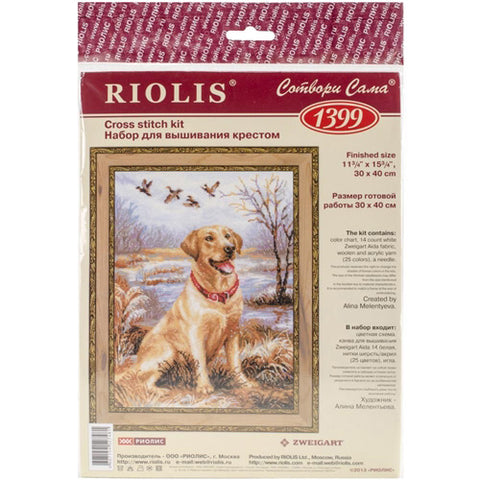 Riolis - Counted Cross Stitch Kit - Labrador