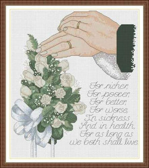 Complete Cross Stitch Kit - Wedding
