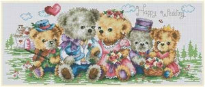 Complete Cross Stitch Kit - Teddy Wedding
