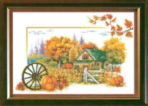 Complete Cross Stitch Kit - Autumn Cottage