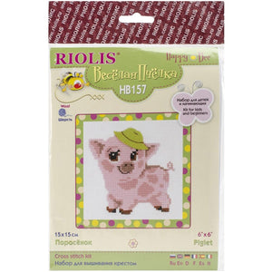Riolis - Counted Cross Stitch Kit - Piglet