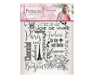 Parisian - Acrylic Stamp - Beau Collage