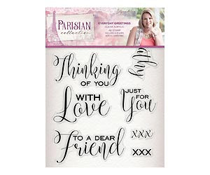 *Pre-Order* Parisian - Acrylic Stamp - Everyday Greetings