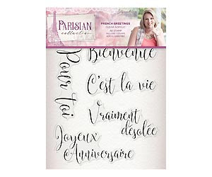 Parisian - Acrylic Stamp - French Greetings | Crafter's Companion