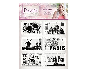 Parisian - Acrylic Stamp - French Stamps