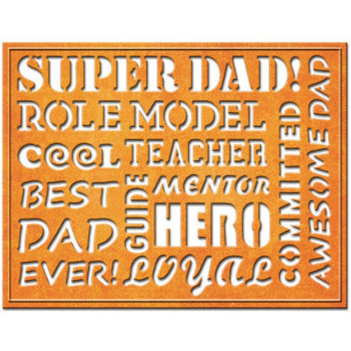 Spellbinders Shapeabilities Die Heart & Home - Awesome Dad