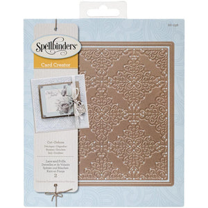 Spellbinders  - Nestabilities Card Creator Dies  - Lace And Frills (6 x 6 inches)