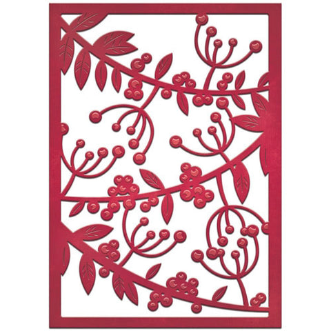 Spellbinders - Mistletoe Card Front - Card Creator - Card Front - Large