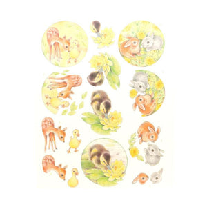 Jeanine's Art Young Animals - 3D Diecut Decoupage Push Out Kit, Ducklings and Rabbits