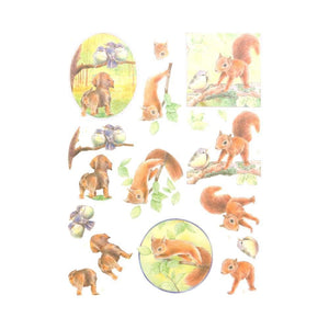 Jeanine's Art Young Animals - 3D Diecut Decoupage Push Out Kit, In the Forest