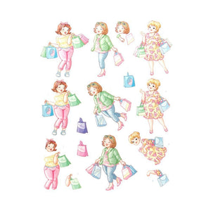 Yvonne Creations 3D Diecut Decoupage - Bubbly Girls, Shopping