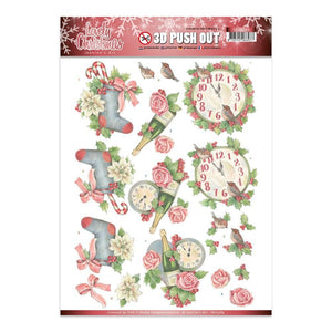 Jeanine's Art - Lovely Christmas A4 Decoupage Sheet, Clocks