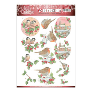 Jeanine's Art - Lovely Christmas A4 Decoupage Sheet, Birds