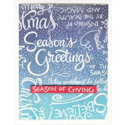 Spellbinders Cling Stamps - Christmas Sentiments