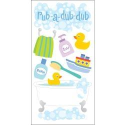 SandyLion Essentials Dimensional Stickers - Bath Time