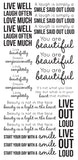 Kaisercraft Clear Stickers - Inspirational | Kaisercraft