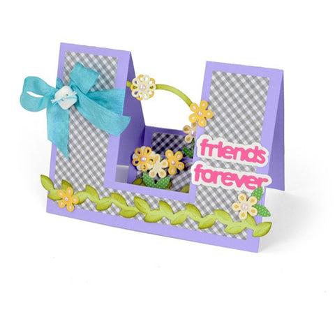 Sizzix Framelits Die Set 23PK - Card, Friends Forever Step - Ups by Stephanie B