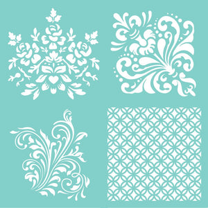 Kaisercraft - 12x12 Template - Damask Quarters