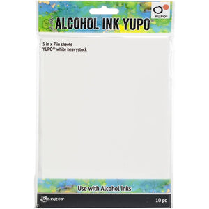 Ranger - Alcohol Ink Yupo Paper - White heavystock (5 x 7 - 10 Sheets)