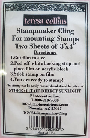 "Teresa Collins Stamp Maker Cling 3"" x 4"" (2 sheets)"