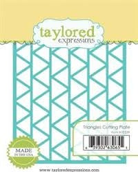 Taylored Expressions - Triangles Cutting Plate