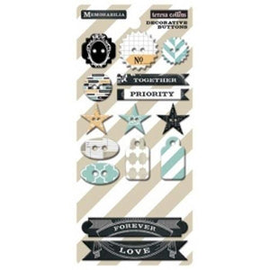 Teresa Collins Designs - Memorabilia - Chipboard Buttons