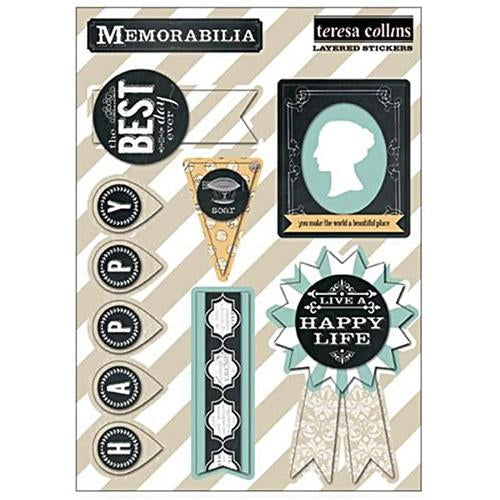 Teresa Collins Designs - Memorabilia - Layered Stickers