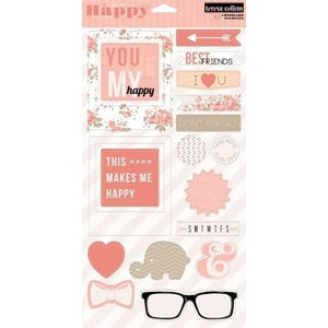 Teresa Collins Designs - You Are My Happy - Chipboard Elements
