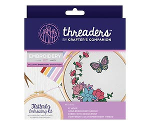Threaders Embroidery Kit - Flutterby