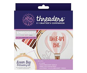 Threaders by Crafter's Companion Embroidery Kit - Dream Big