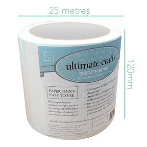 Ultimate Crafts - Diecut'N Bond (Double - Sided Adhesive Tape)(25m x 12cm | 82ft x 4.72in)