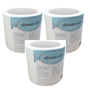 Ultimate Crafts - Diecut'N Bond (Double - Sided Adhesive Tape) - 3 Rolls (25m x 12cm | 82ft x 4.72in)