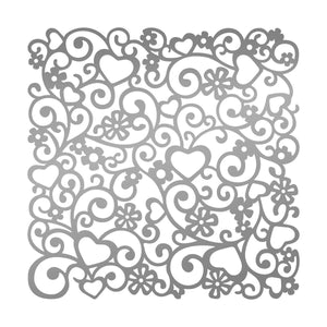 Stencil 10x10 - LQ - Loving Flourishes