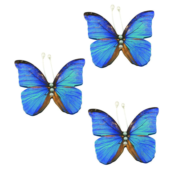 Paper Butterflies - BB - Blue Layered Butterflies (3pc)