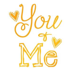 Ultimate Crafts - You and Me Hotfoil Stamp (51 x 57mm | 1.9 x 2.2in) - Sweet Sentiments wh