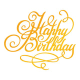 Ultimate Crafts - Happy Birthday Hotfoil Stamp (76 x 64mm | 3 x 2.5in) - Classic Sentiments WH